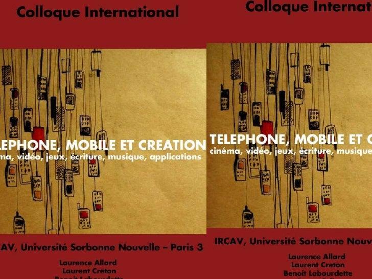 Colloque Mobile et Création