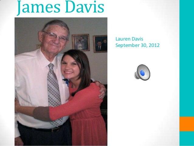 James Davis              Lauren Davis              September 30, 2012
