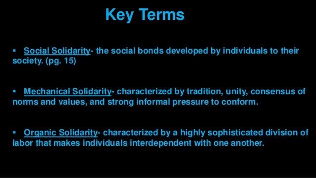mechanical solidarity sociology