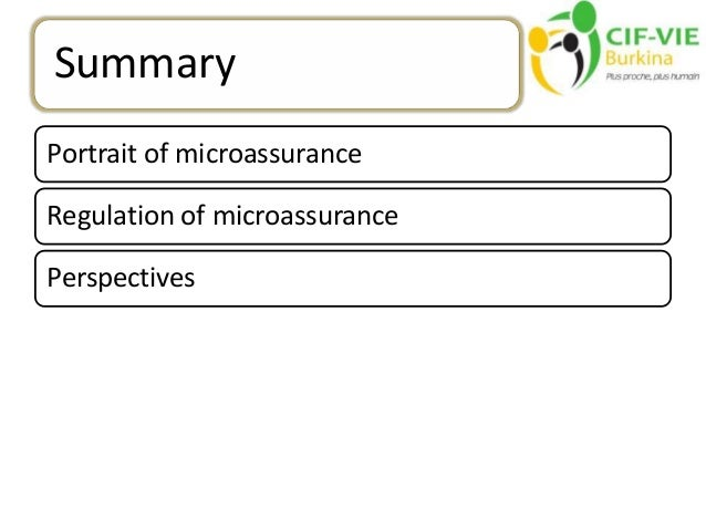 regulation of microinsurance in the cima zone the perspectives