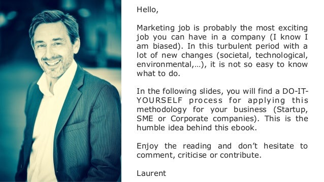 Hello, Marketing job is probably the most exciting job you can have in a company (I know I am biased). In this turbulent p...