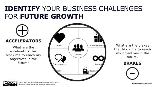 IDENTIFY YOUR BUSINESS CHALLENGES FOR FUTURE GROWTH BRAKES ACCELERATORS What are the brakes that block me to reach my obje...