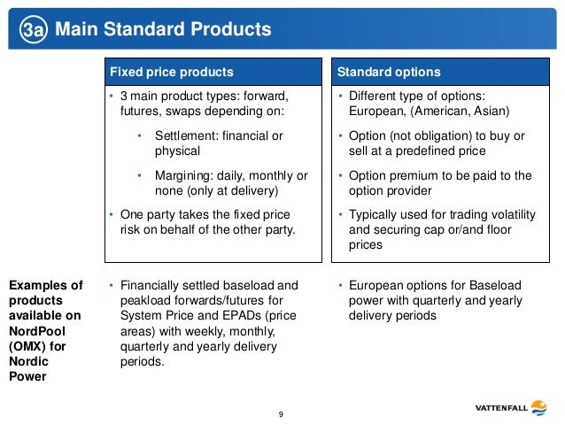 Swaps and forwards are subject to counterparty risk exchange traded futures and options are not