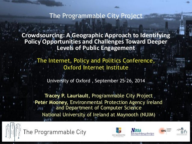 The Internet, Policy and Politics Conference, Oxford Internet Institute University of Oxford , September 25-26, 2014  Trac...