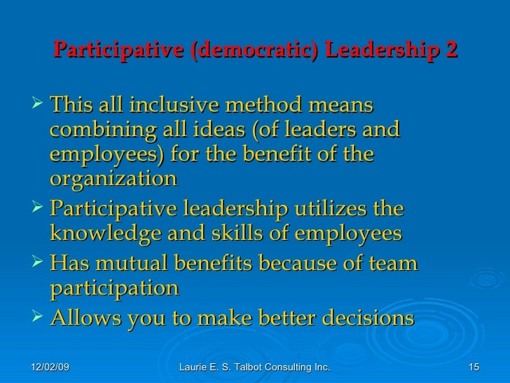 advantages of delegative leadership Delegative democracy, also known as liquid democracy, is a form of democratic control whereby an electorate vests voting power in delegates rather than in.