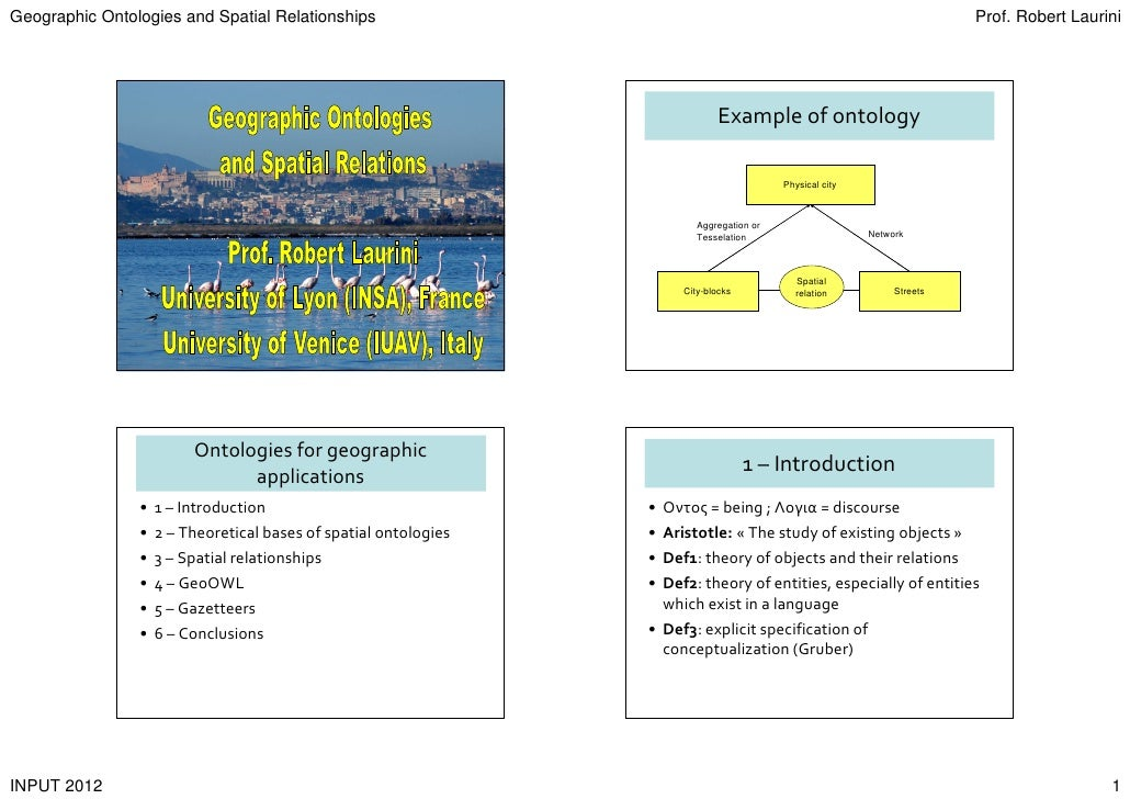 Geographic Ontologies and Spatial Relationships                                                                           ...