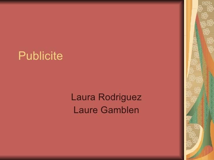 Publicite Laura Rodriguez Laure Gamblen