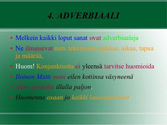 Lauseenjäsennys Tehtäviä