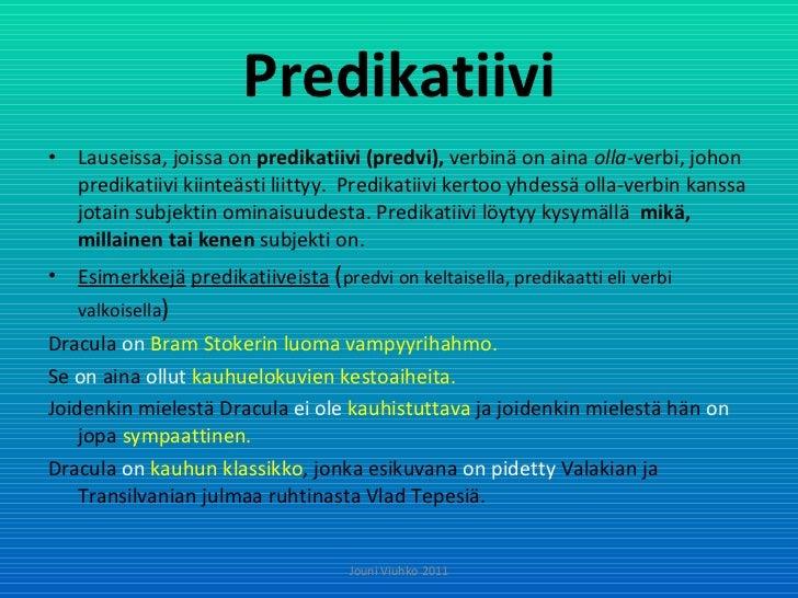 Mikä On Predikaatti