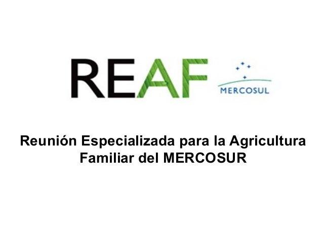 Reunión Especializada para la Agricultura Familiar del MERCOSUR