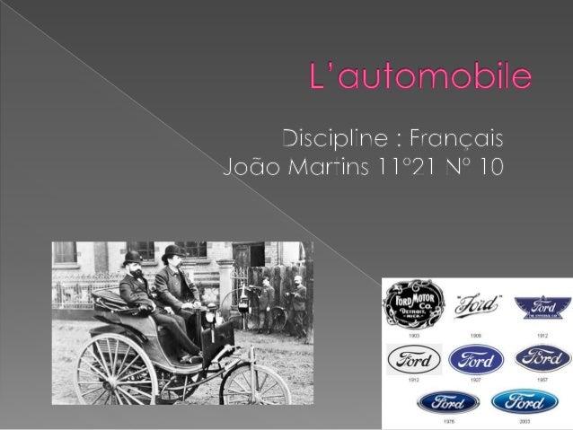 La première voiture a été construite par Joseph Cugnot en 1769 . Elle était propulsée par un moteur à vapeur et elle était...