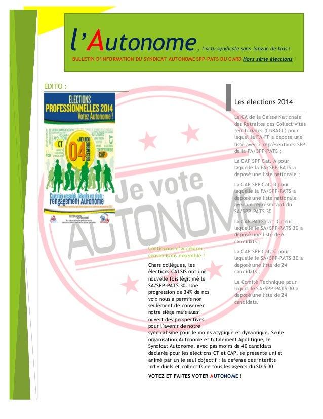 Continuons d'accélérer, construisons ensemble !  Chers collègues, les élections CATSIS ont une nouvelle fois légitimé le S...