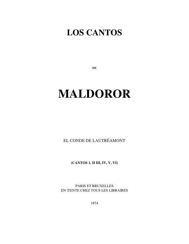 Lautreamont - Los Cantos De Maldoror