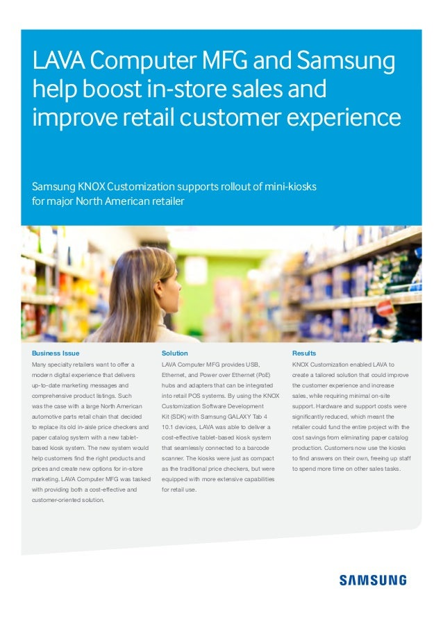 Business Issue Many specialty retailers want to offer a modern digital experience that delivers up-to-date marketing messa...
