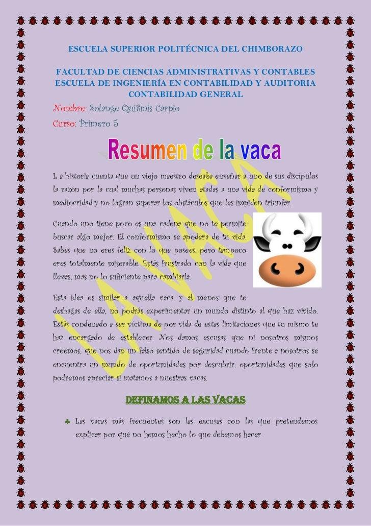 LA VACA ( RESUMEN LIBRO)