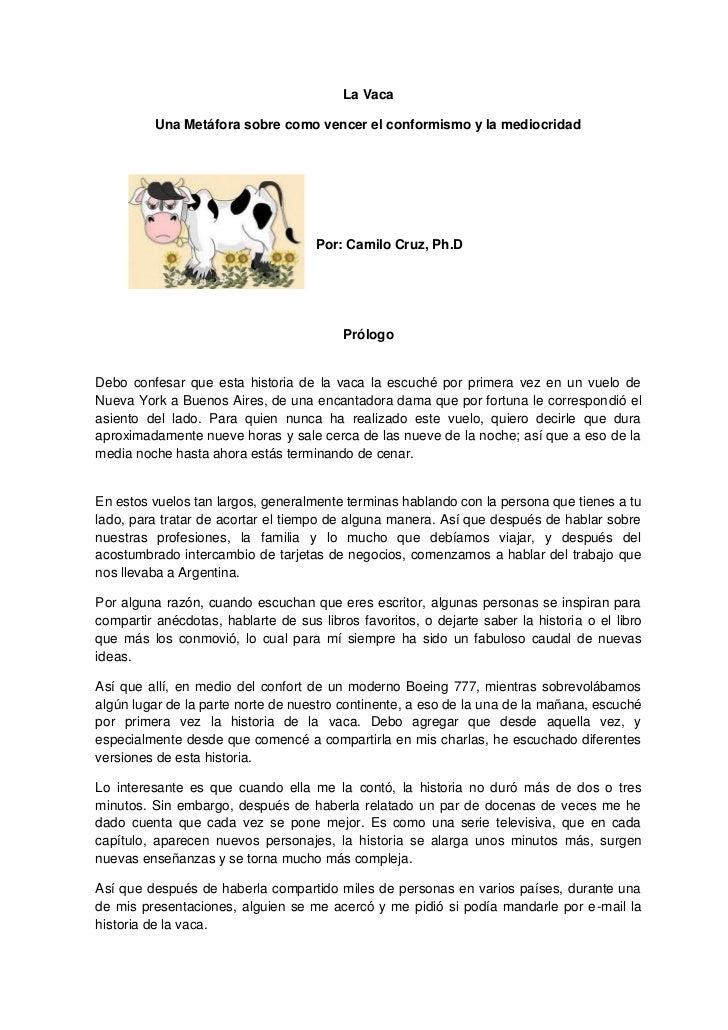 La vaca. Por Camilo Cruz