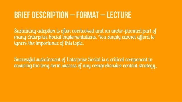 Lava con 15  Enterprise social sustainment - evaluate.adopt.iterate