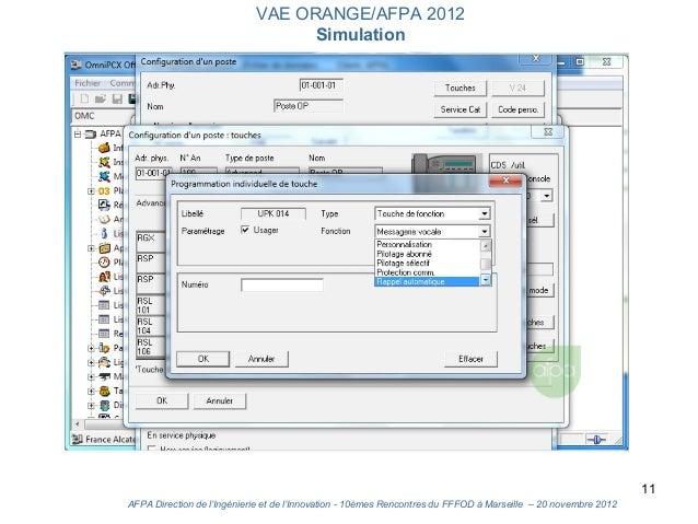 VAE ORANGE/AFPA 2012                                  Simulation                                                          ...