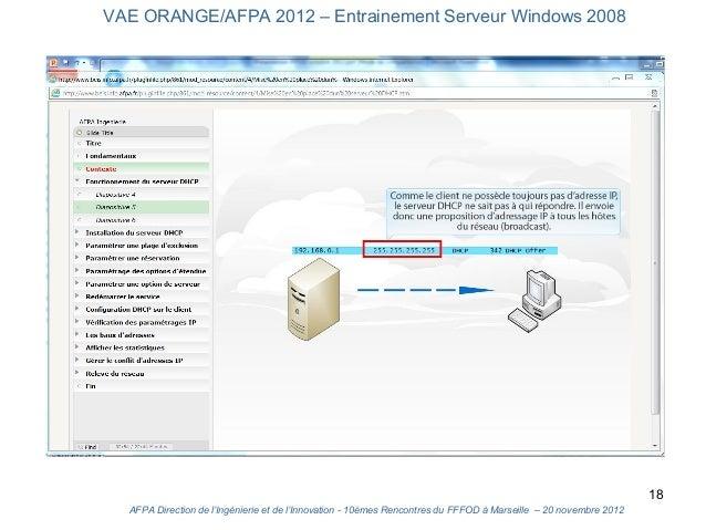 VAE ORANGE/AFPA 2012 – Entrainement Serveur Windows 2008                                                                  ...