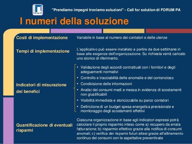 """""""Prendiamo impegni troviamo soluzioni"""" - Call for solution di FORUM PA Costi di implementazione Tempi di implementazione I..."""