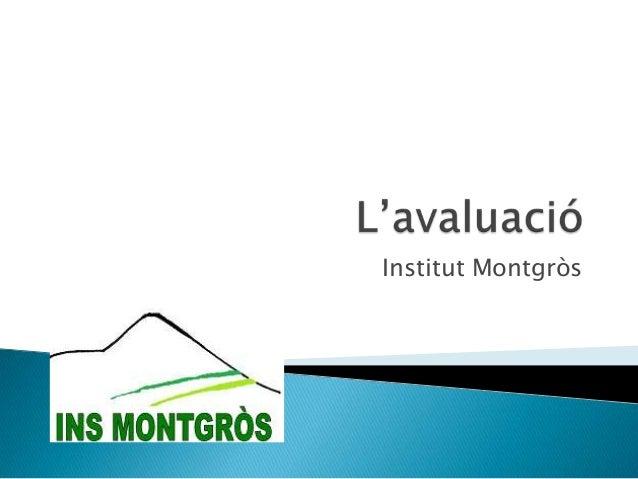 Institut Montgròs