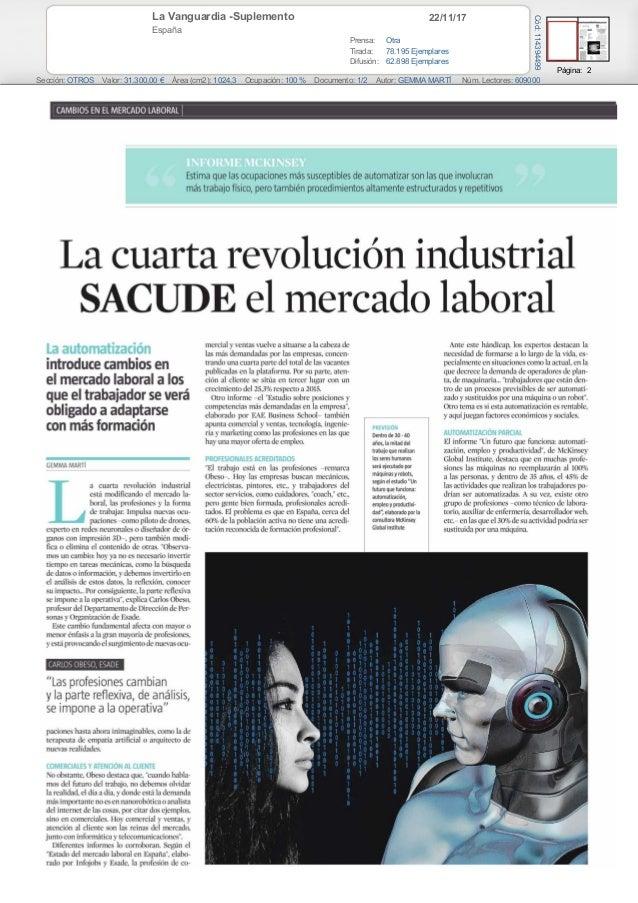 22/11/17La Vanguardia -Suplemento España Prensa: Otra Tirada: 78.195 Ejemplares Difusión: 62.898 Ejemplares Página: 2 Secc...