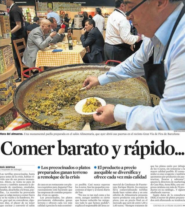 comer barato y r pido la vanguardia 27 03 2012