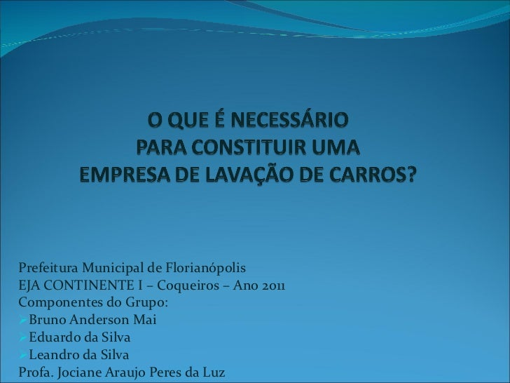 <ul><li>Prefeitura Municipal de Florianópolis </li></ul><ul><li>EJA CONTINENTE I – Coqueiros – Ano 2011 </li></ul><ul><li>...
