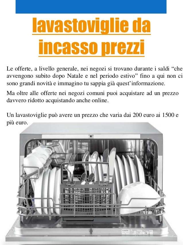 offerte lavastoviglie da incasso