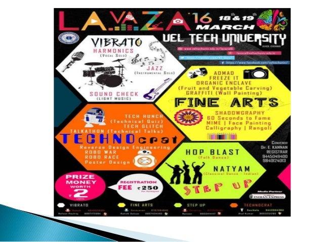 Lavaza 2016   vel tech university