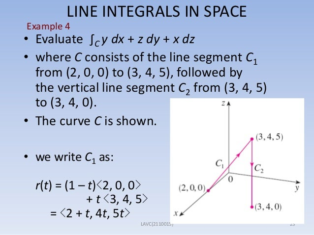 Section 15. 1 line integral example over a straight path youtube.