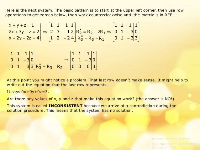 Matrices and System of Linear Equations ppt