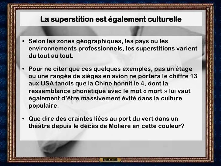 La veille de n kid la superstition for Superstition chiffre 13