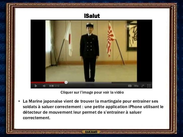 iSalut                      Cliquer sur l'image pour voir la vidéo• La Marine japonaise vient de trouver la martingale pou...