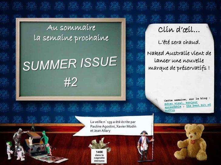 Au sommaire                                       Clin d'œil… la semaine prochaine                                  L'été ...