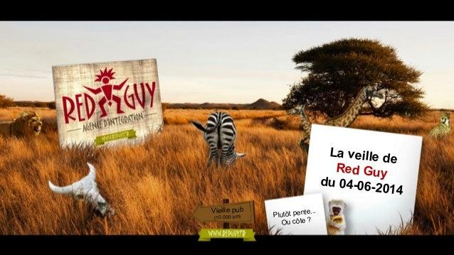 La veille de Red Guy du 04-06-2014 Vieille pub (10.000 km) Plutôt pente... Ou côte ?