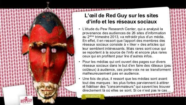 L'œil de Red Guy sur les sites d'info et les réseaux sociaux • L'étude du Pew Research Center, qui a analysé la provenanc...