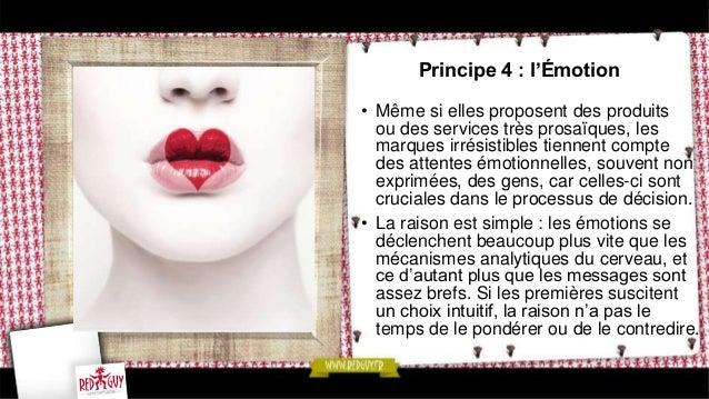 Principe 6 : la Cohérence interne  • Comme la communication marketing  intégrée le suggère, les différents  constituants d...
