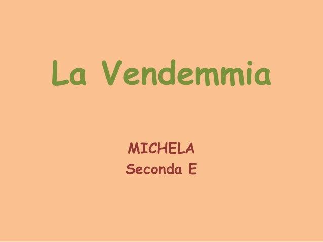 La Vendemmia MICHELA Seconda E