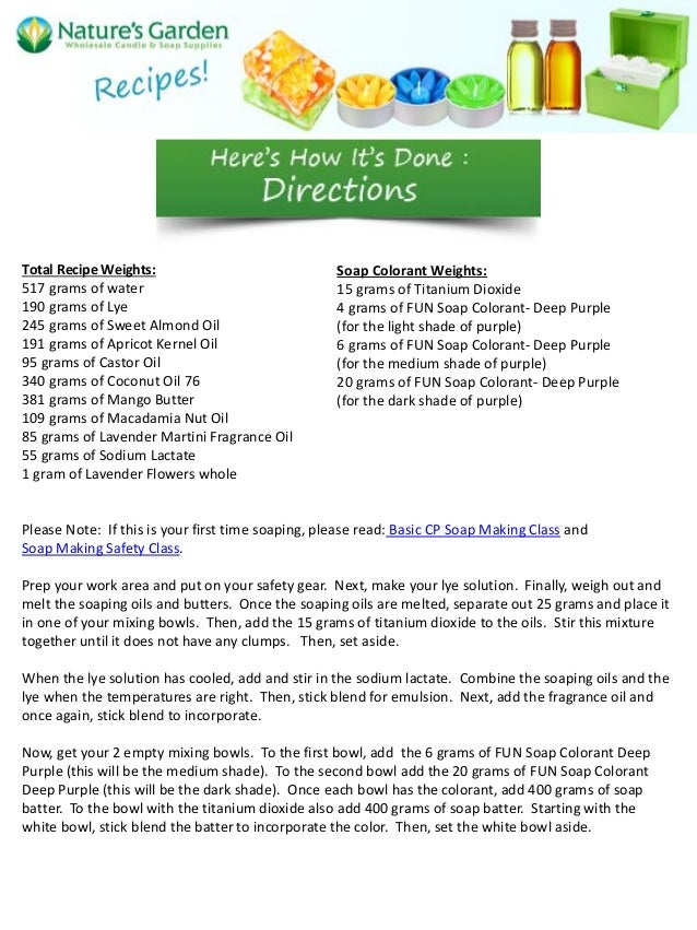 Natures Select Cold Water Recipe