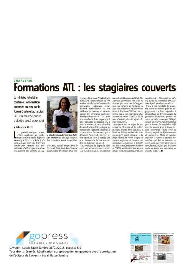 L'avenir -  Formations Atl - les stagiaires couverts - janv 2018