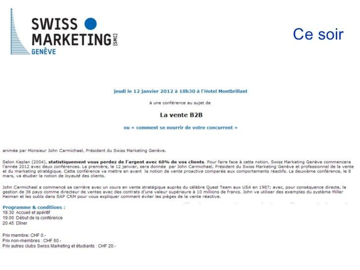 Présentation: John Carmichael Président CMS Genève Ce soir