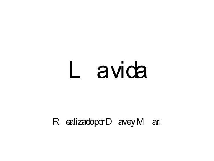 L avidaR ealizadopo D avey M ari            r