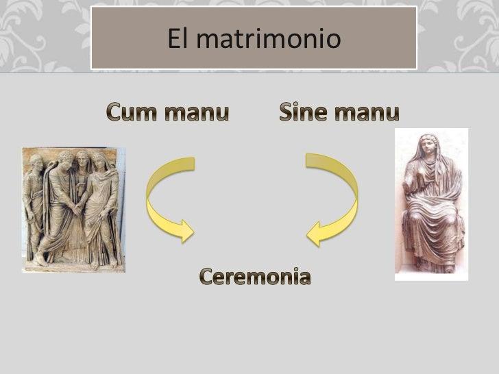 Derecho Romano Matrimonio Sine Manu : La vida cotidiana de los romanos