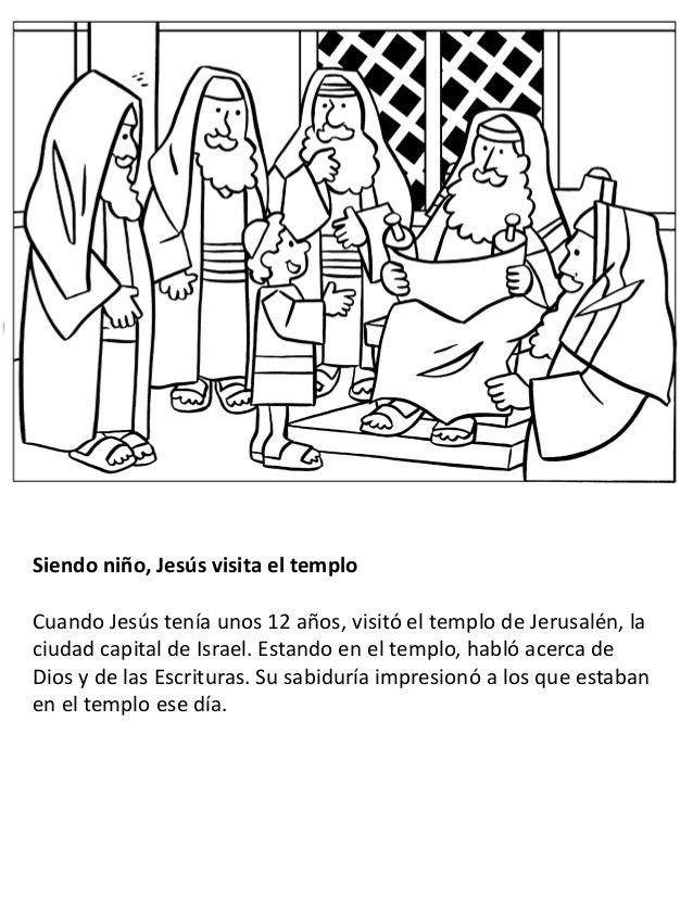 La vida de Jesús para niños - Libro para colorear