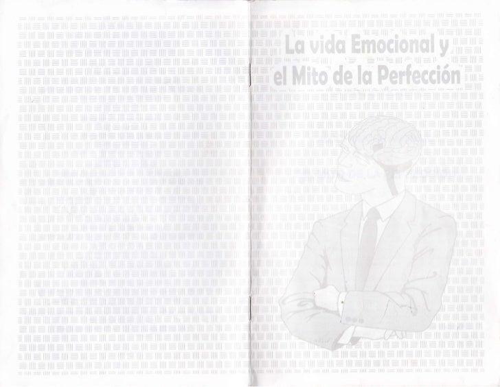 I.A VIDA EMOCIONAL                 Y       ALCOHOLICOS ANONIMOS,,EL       MITO DE LA PERFECCION                           ...