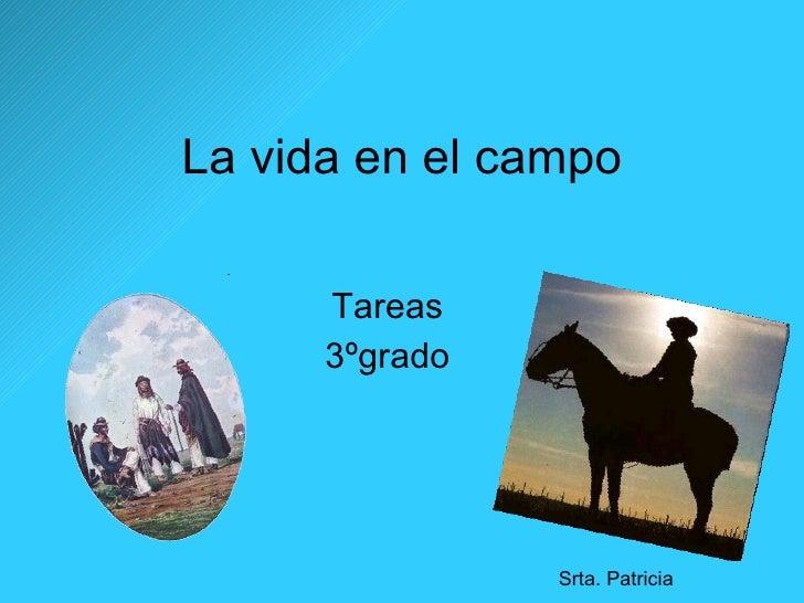 La vida en el campo Tareas 3ºgrado Srta. Patricia