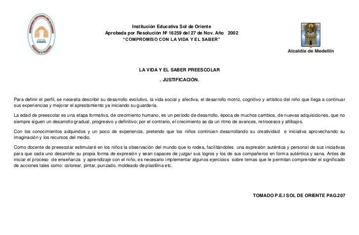 Institución Educativa Sol de Oriente                                               Aprobada por Resolución Nº 16259 del 27...