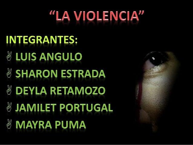 Introducción La violencia, medio que debiera estar ya desterrado en una sociedad civilizada, sigue actuando entre nosotros...