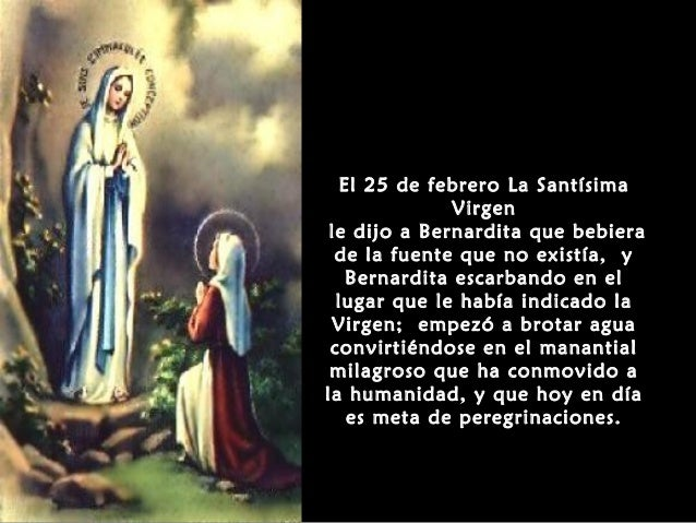 Dia De La Virgen De Lourdes: La Virgen De Lourdes Y Santa Bernardette